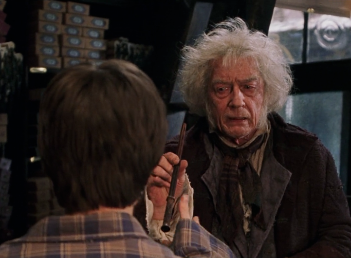 Ollivander presents wand