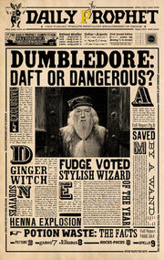 Profeta Diário Dumbledore maluco ou perigoso