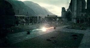 Harry e Voldemort battaglia finale