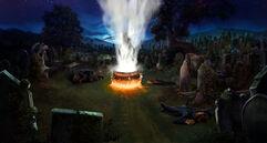 B4C32M1 Voldemort rises in Little Hangleton graveyard