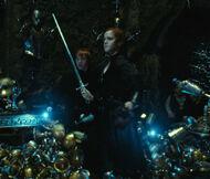 Hermione sort l'épée du sac