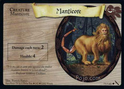Manticore (Harry Potter Trading Card)