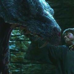 Гарри пронзил василиска мечом Гриффиндора