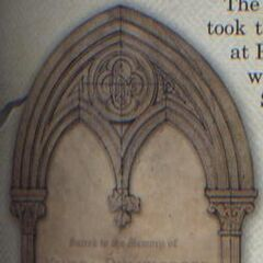 Надгробие Кендры и Арианы из книги «Гарри Поттер. Рождение легенды»