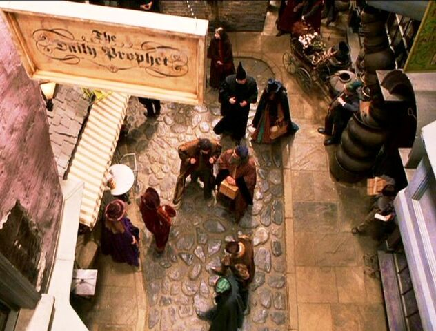 File:The Daily Prophet sign in Diagon Alley.JPG