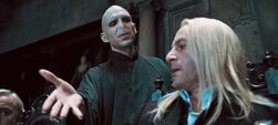 DH1 Voldemort and Lucius Malfoy