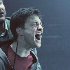 Пытается удержать Гарри