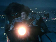 Hagrid and Harry - The 7 Potters chasing scene