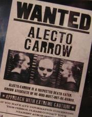 Alecto Carrow - Fahndungsplakat