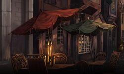 Diagon Alley cafés