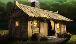 Hagrid's cabin.Pottermore
