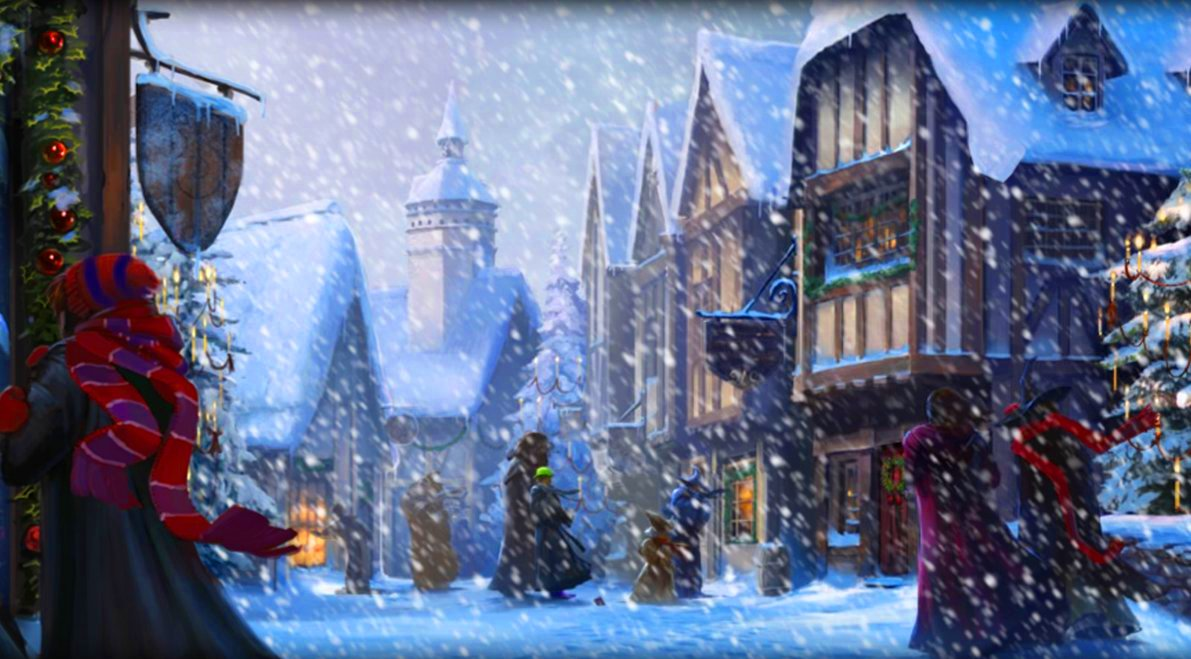 image pottermore background hogsmeade at christmas jpg harry