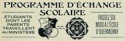 Programme D'Echange Scolaire