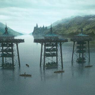 Озеро во время второго тура Турнира Трёх Волшебников