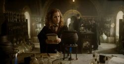 Hermione during Potion class