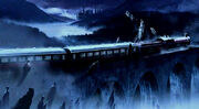 Dementors at Hogwarts Express (Adam Brockbank's Concept Artwork for HP3 movie)