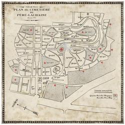 Cimetiere du Pere Lachaise Map