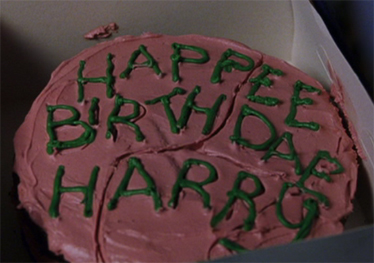 Image result for CAKE HAGRID GIVES HARRY