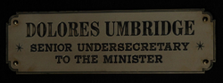 Dolores Umbridge sign-0