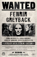 MinaLima Store - Fenrir Greyback Wanted Notice