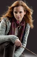 DH1 promo casual wear Hermione Granger wand