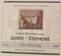 Cos d'Estourel 1974 Sainte-Stephenie Chardonnay.png