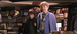 Harr Potter takes image with Lockhart