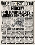 The Daily Prophet – 'A Ministry of Magic Deploys Aurors Europe-wide'