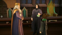Dumbledore and Snape evaluating potion HM