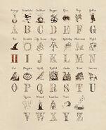 MinaLima Store - Alphabet from Harry Potter's Bedroom