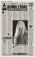 MinaLima Store - The Daily Prophet - Albus Dumbledore's Obituary