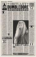 MinaLima Store - The Daily Prophet - Albus Dumbledore's Obituary