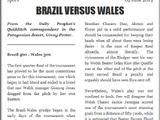 BRAZIL VERSUS WALES