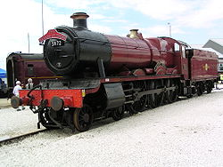 GWR 'Hall' 5972 'Olton Hall' at Doncaster Works
