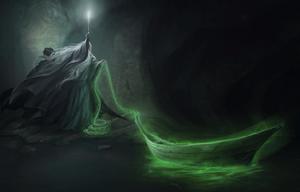 Łódź w jaskini horkruksa (Pottermore)