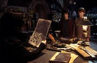 HP2 Harry and Ron in Snape's office