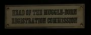 Placa da Chefe da Comissão