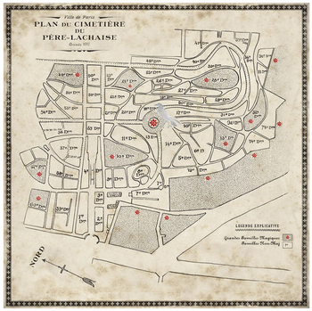 Cimetière du Père Lachaise map
