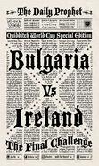 MinaLima Store - The Daily Prophet - Bulgaria Vs Ireland