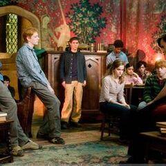 Гриффиндорцы в гостиной