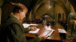 Remus lupin w klasie obrony przed czarną magią