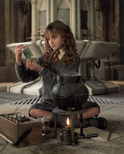 COS HQ still Hermione making Polyjuice 01