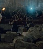 An Acromantula during the Battle of Hogwarts