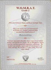 Wombat test2 certyfikat