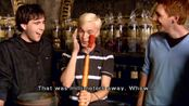 Matthew Lewis, Tom Felton, Oliver Phelps and a Punching telescope