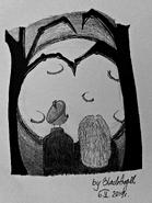 Hagrid i Madame Maxime (FanArt)
