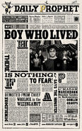 MinaLima Store - The Daily Prophet - Boy Who Lived