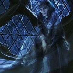 Миртл на окне, размышляет о смерти