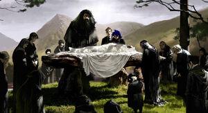 Begravelsen til Albus Humlesnurr