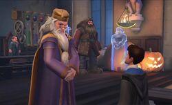 Dumbledore with Jacob's sibling Hallowe'en Decorations HM